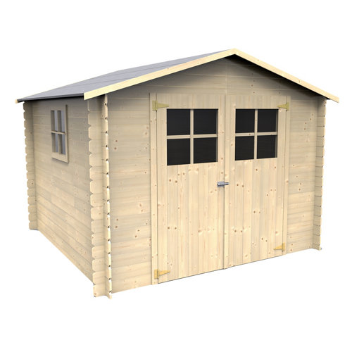 Caseta de madera mirama de 283x210x272 cm y 7.7 m2