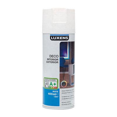 Spray pintura LUXENS blanco mate 0,4L