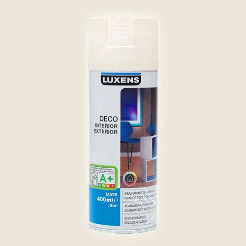 Spray pintura luxens blanco marfil mate 0,4l