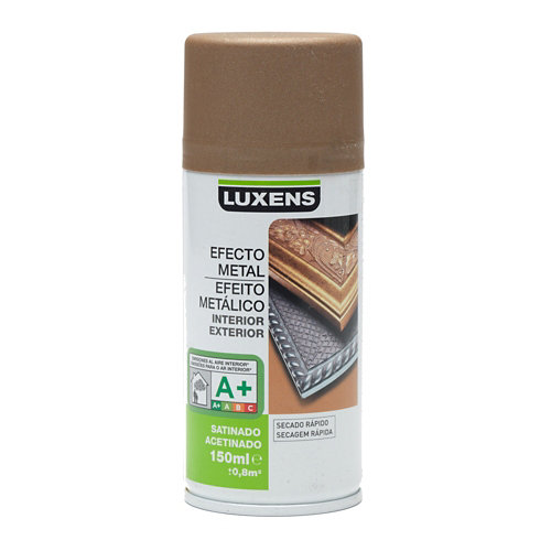 Spray pintura luxens efecto metal bronce satén 0,15l