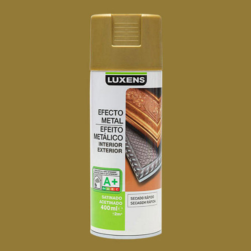 Spray pintura luxens efecto metal oro antiguo satén 0,4l