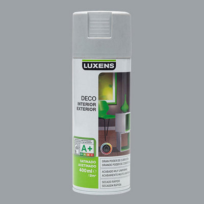 Spray decorativo satinado LUXENS 400 ml gris piedra
