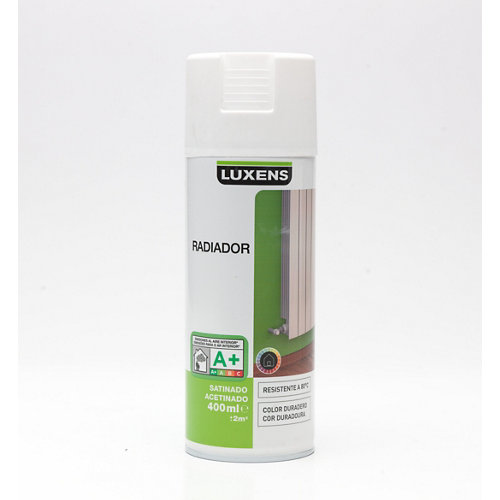 Spray para radiadores satinado luxens 400ml blanco