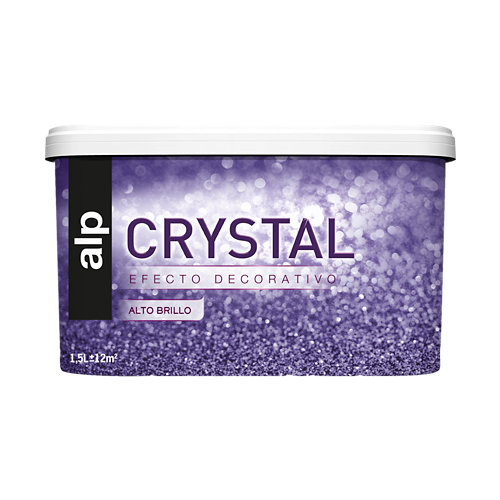 Pintura decorativa alp efecto crystal gris oscuro 1,5l