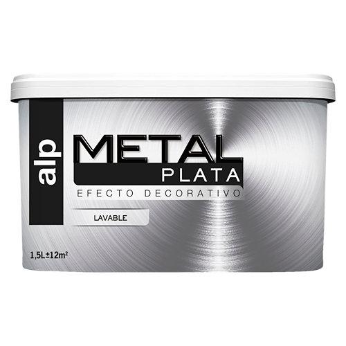 Pintura decorativa alp efecto metal plata 1,5l
