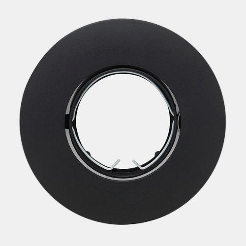 Foco empotrable redondo grande negro