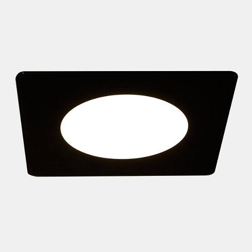 Foco downlight led novo cristal cuadrado negro 12w 4000k