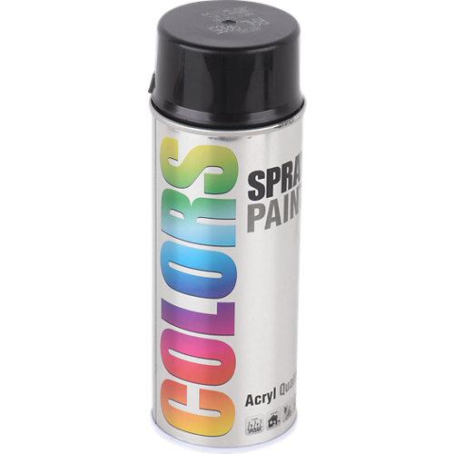 Spray pintura colors negro brillo 0,4l