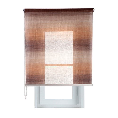 Estor enrollable translúcido tokyo vison marrón de 94x230cm