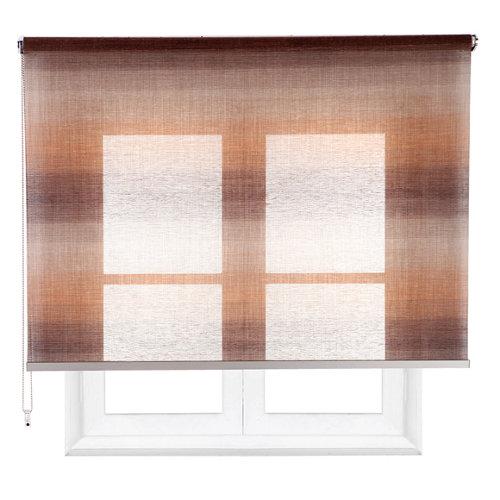 Estor enrollable translúcido tokyo vison marrón de 109x230cm