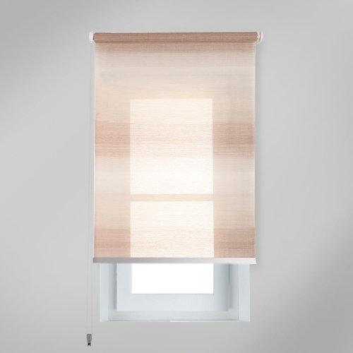 Estor enrollable translúcido tokyo beige de 124x230cm