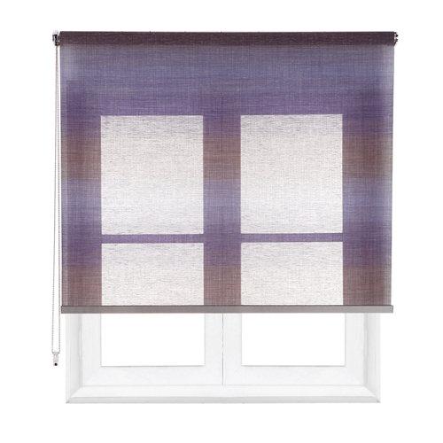 Estor enrollable translúcido tokyo azul de 124x230cm