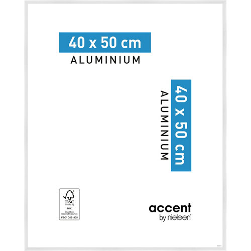 Marco blanco 50 cm x 40 cm