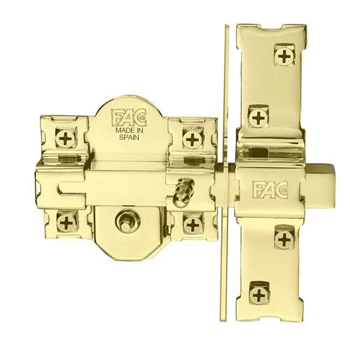 Cerrojo de seguridad botón/llave de 50mm 946rp/80 ancho dorado