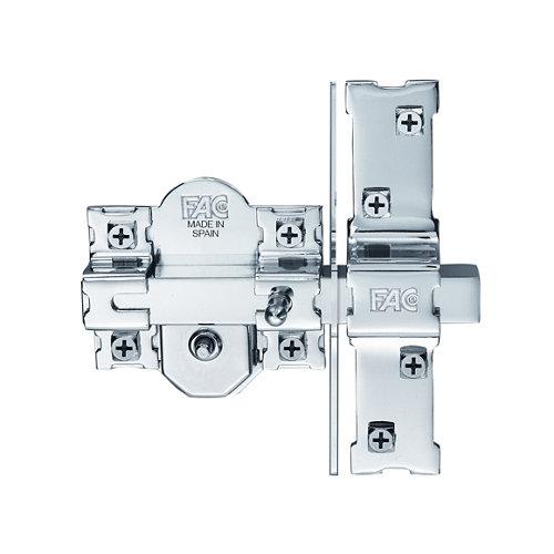 Cerrojo de seguridad llave cilindro 50mm 946lp/80 mm ancho gris plata