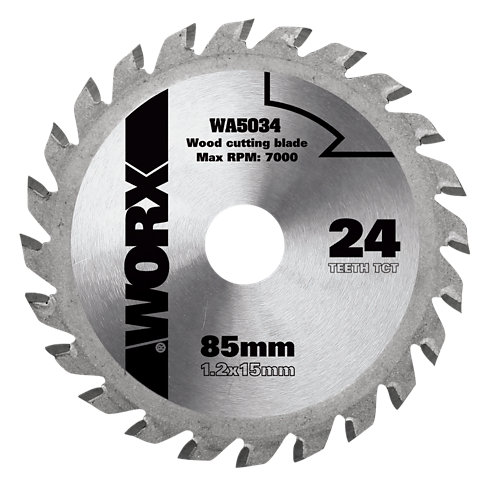 Hoja de sierra para madera worxsaw wa5034 de 24 mm