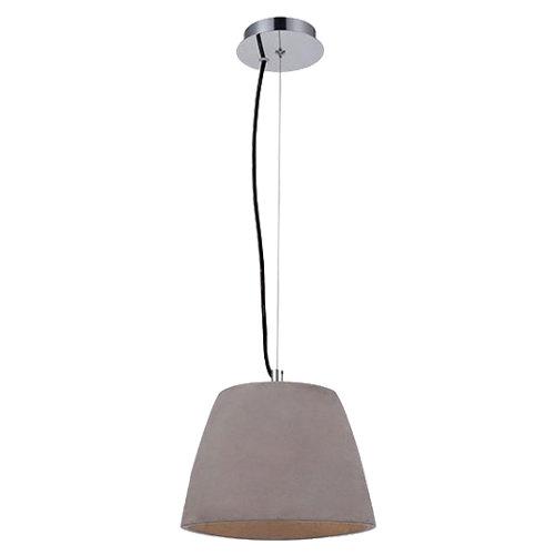 Lámpara de techo triangle plateada 1 luz