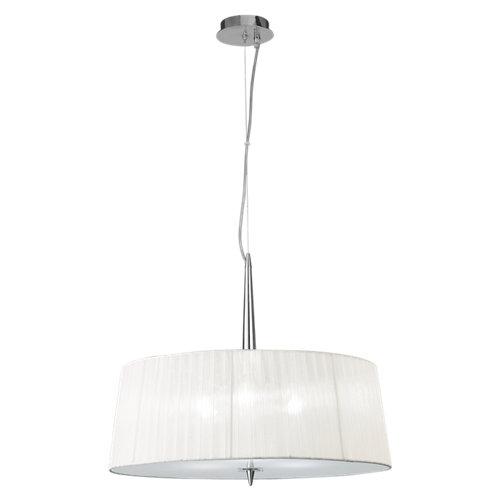 Lámpara de techo loewe plateada 3 luces