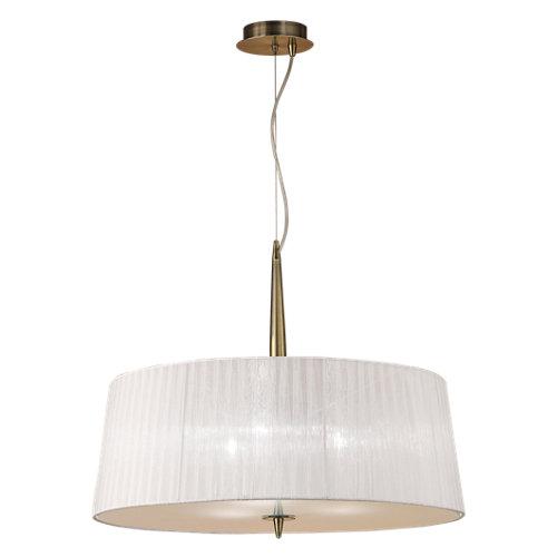 Lámpara de techo loewe marrón 3 luces