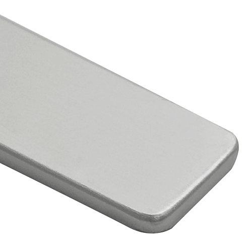 Tapa de copete de aluminio delinia 2 r 30mm para cocina color plata