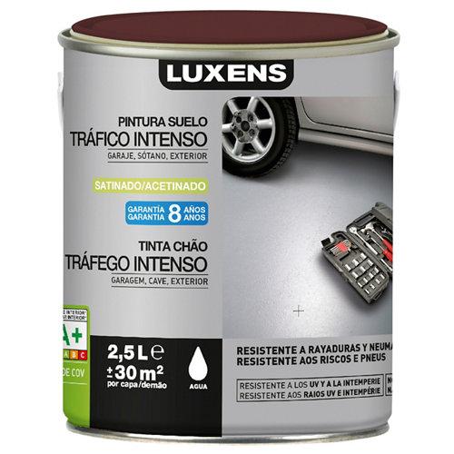 Pintura para suelos luxens traf. intenso rojo saten 2,5l