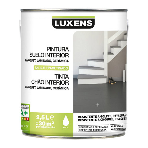 Pintura para suelos interior luxens blanco satinado 2,5l