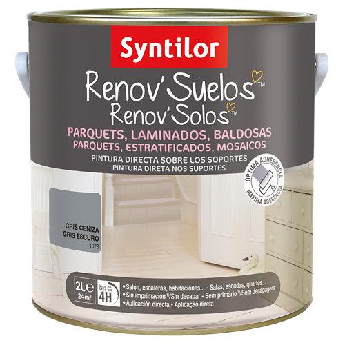 Pintura para suelos renov suelo gris ceniza 2l