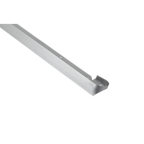 Prolongación de encimera redonda plata mate de 30 mm