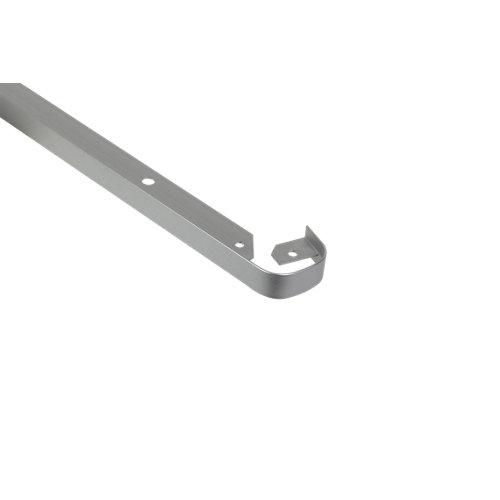 Unión de encimera redonda plata mate de 30 mm