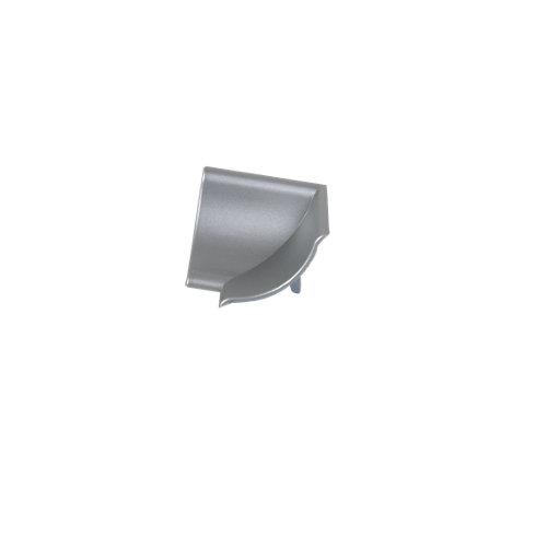Rinconera de copete cóncavo delinia para cocina color plata