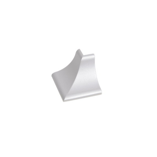 Esquinera de copete cóncavo delinia para cocina color plata mt