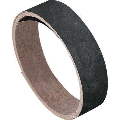 Rollo canto de encimera laminado para cocina color negro de 3,5x360x0,07 cm