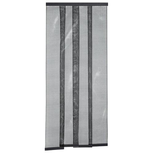 Mosquitera puerta cortina estor color negro 105-130x250 cm negra (ancho x alto)