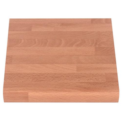 Encimera laminada aspecto madera delinia haya radio 9 mm 63 x 360 x 30 mm