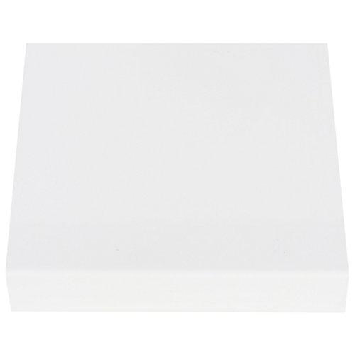 Encimera laminada liso delinia blanco 3091 radio 3 mm 62 x 360 x 38 mm