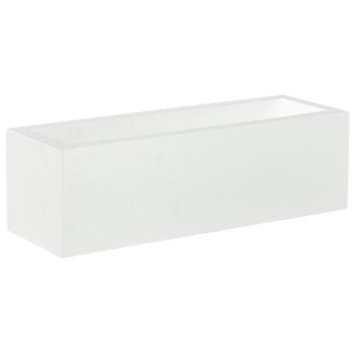 Jardinera de polietileno newgarden blanco 60x18 cm