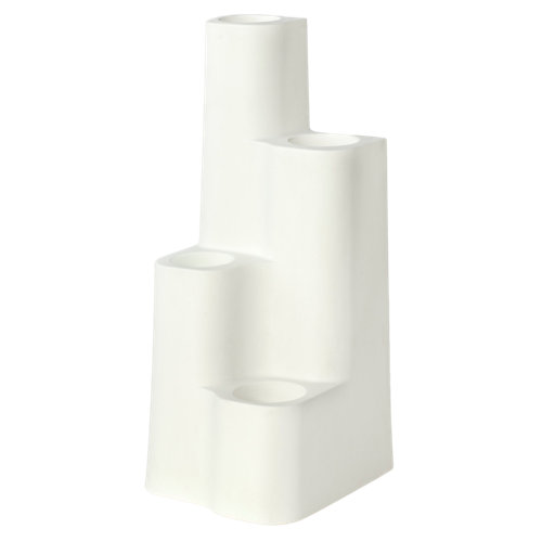 Maceta de polietileno newgarden blanco 45x110 cm