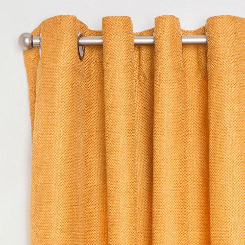Cortina cindy con motivo liso naranja de 270 x 140 cm