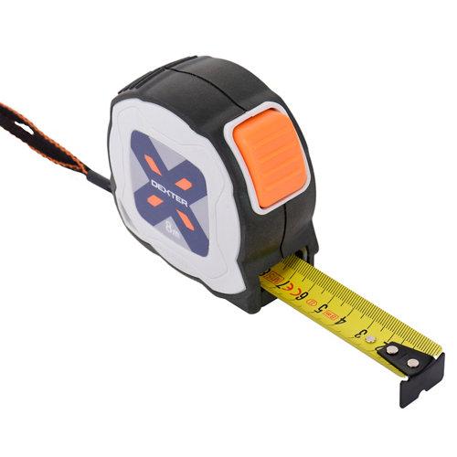 Flexómetro enrollable dexter de 5 a 8 m