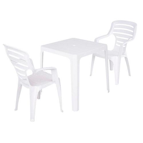 Conjunto de muebles de terraza beach-pireo de resina para 4 comensales