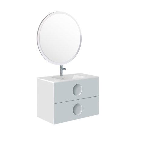 Mueble de baño sphere blanco 80 x 45 cm