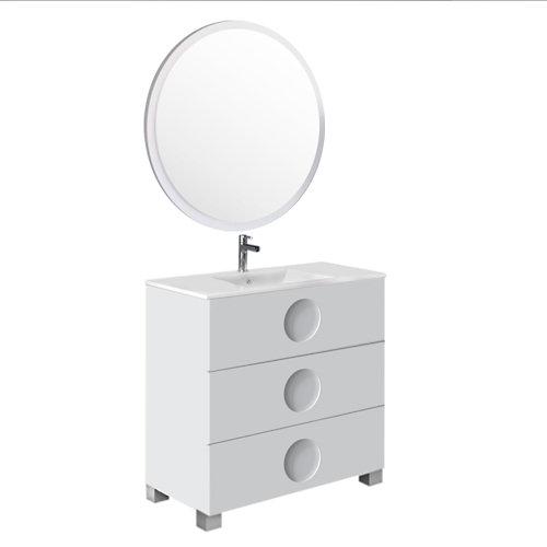 Mueble de baño sphere blanco 90 x 45 cm