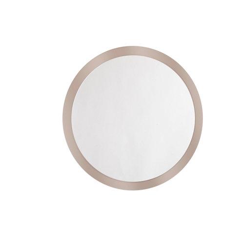 Espejo de baño sphere marrón 90 x 90 cm