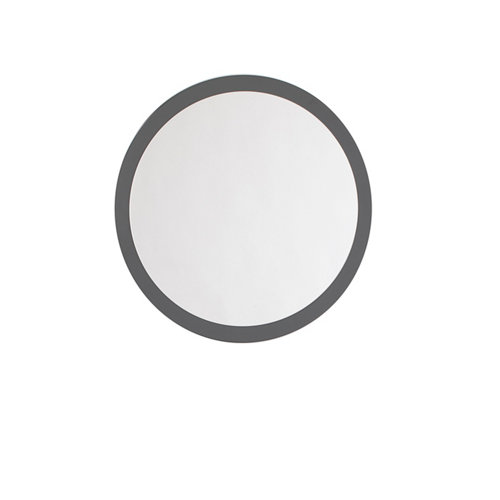 Espejo de baño sphere gris / plata 80 x 80 cm