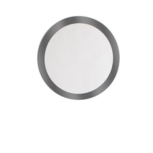 Espejo de baño sphere gris / plata 90 x 90 cm