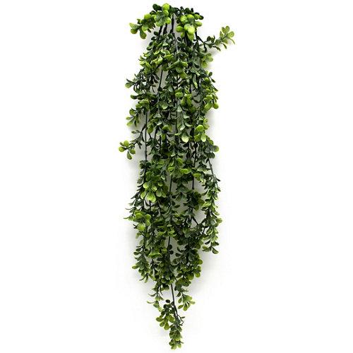 Planta artificial boj en color verde