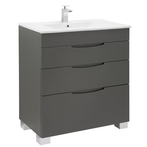 Mueble de baño asimétrico grafito 80 x 45 cm