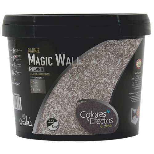 Pintura decorativa osaka magic wall plata 2,5l