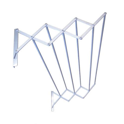 Tendedero barras extensible para pared de aluminio de 21.5x124x7 cm