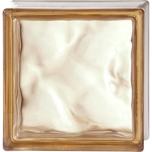 Bloque de vidrio shade ondulado bronce 19x19x8 cm